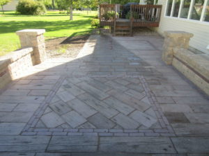 Custom Wood Look Patio